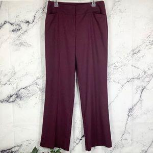 NWT Loft curvy burgundy wine pants Sz 10